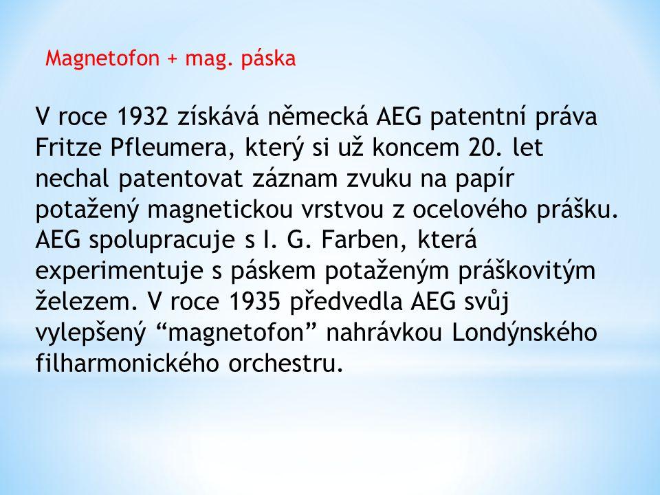 Magnetofon + mag. páska