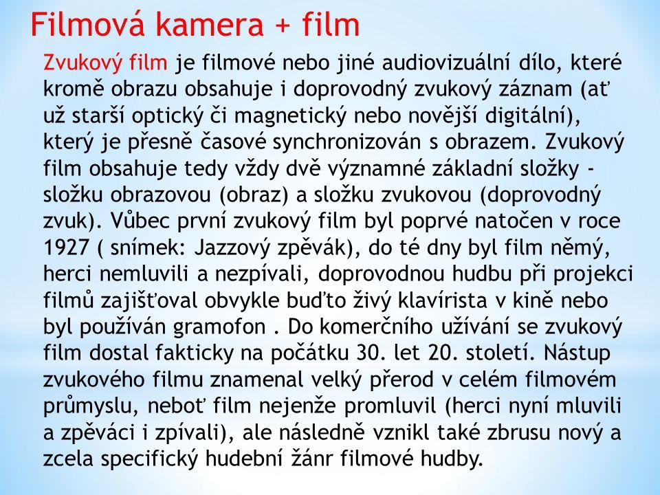 Filmová kamera + film