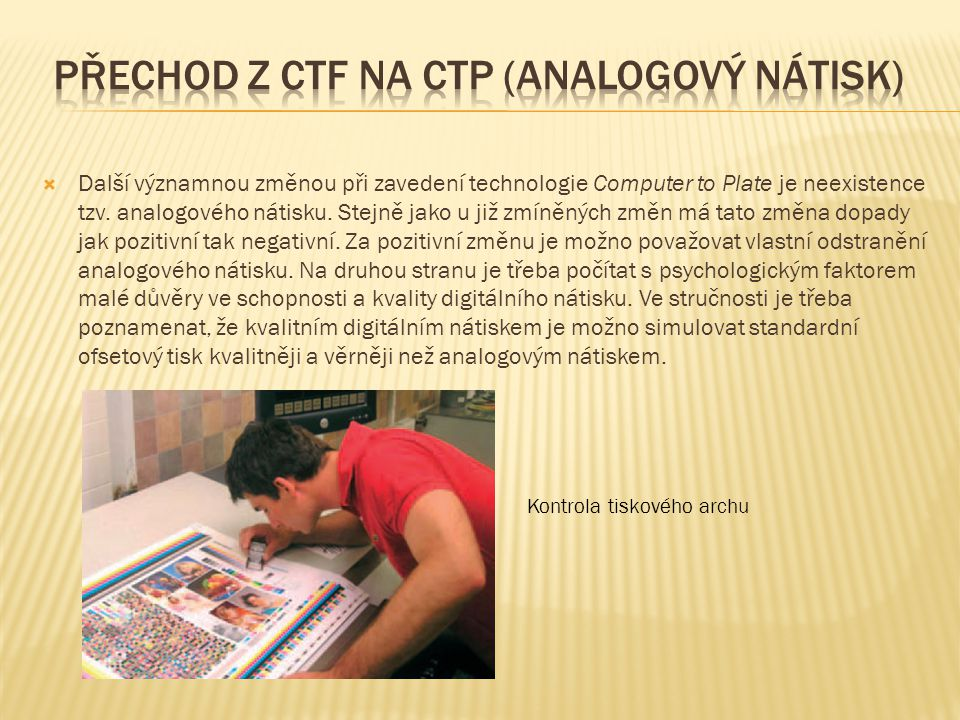 Přechod z ctf na ctp (analogový nátisk)