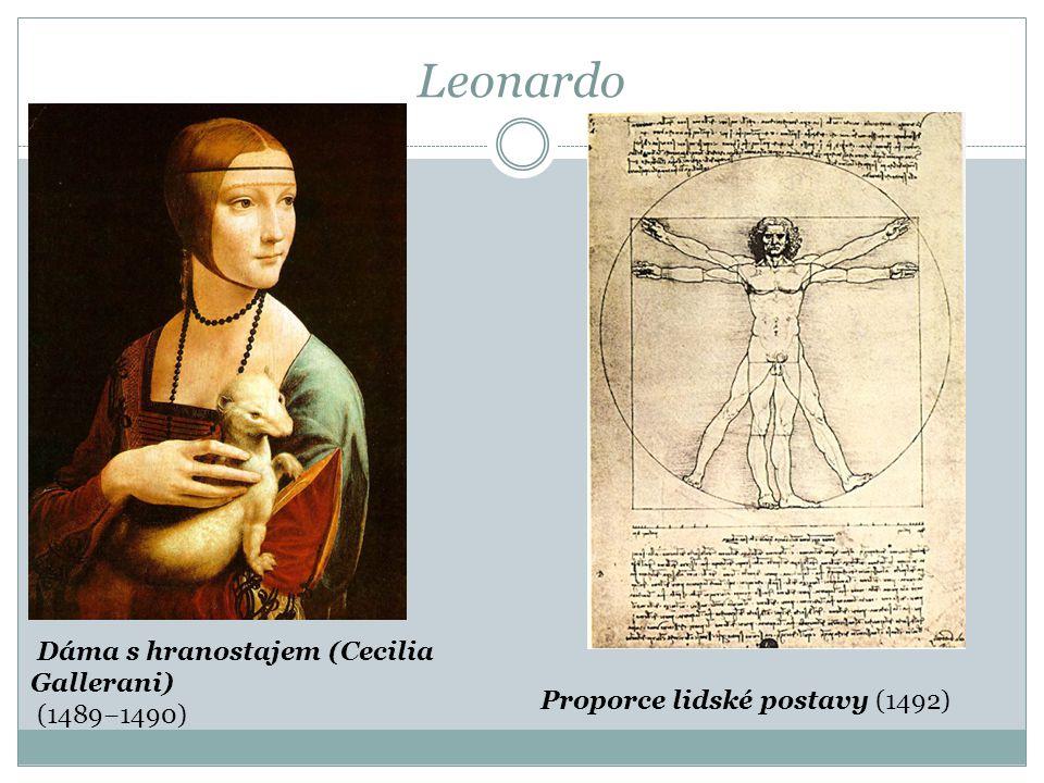 Leonardo Dáma s hranostajem (Cecilia Gallerani) (1489−1490)