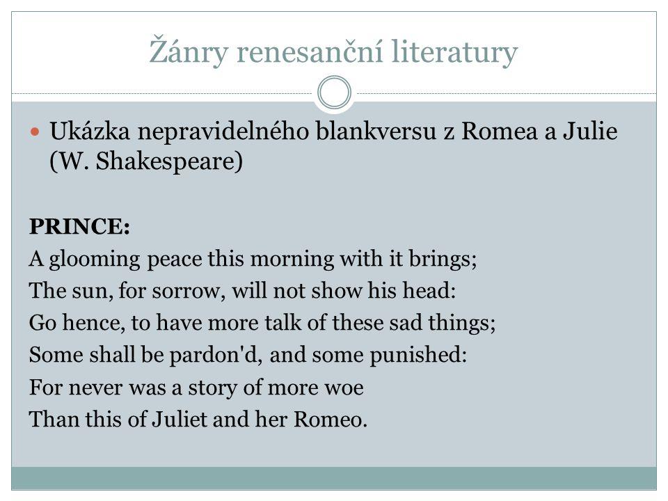 Žánry renesanční literatury