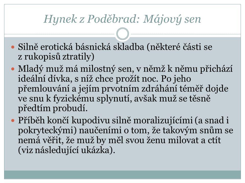 Hynek z Poděbrad: Májový sen
