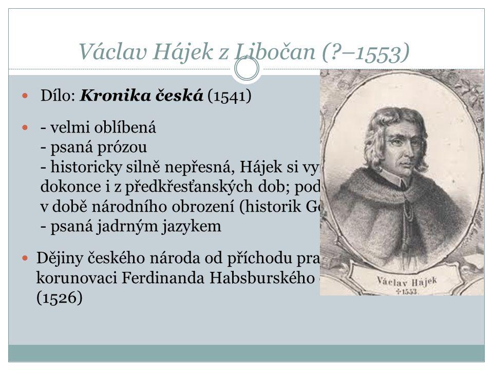 Václav Hájek z Libočan ( –1553)