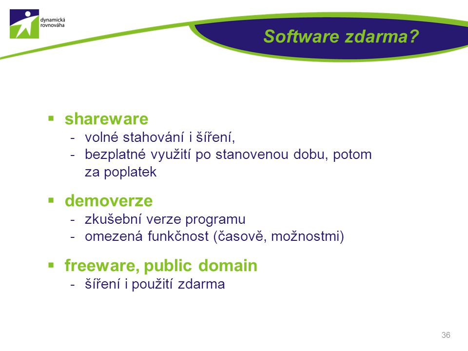 Software zdarma shareware demoverze freeware, public domain