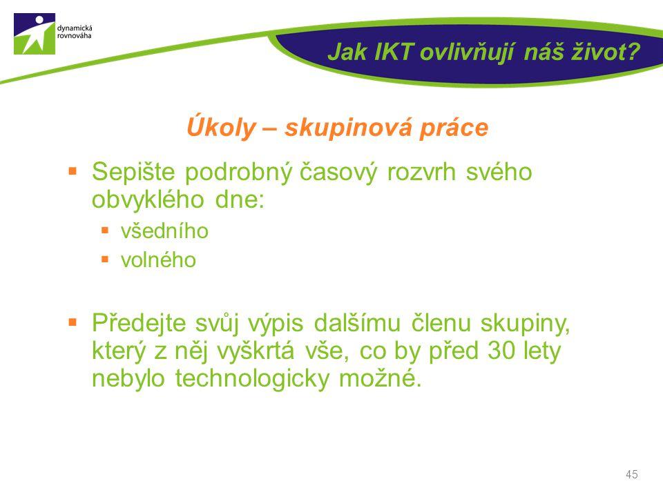 Jak IKT ovlivňují náš život