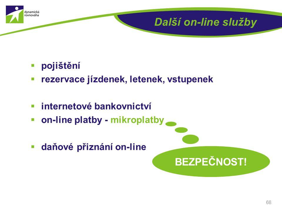Další on-line služby BEZPEČNOST! pojištění