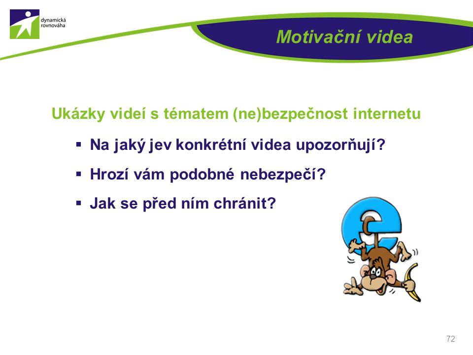 Motivační videa Ukázky videí s tématem (ne)bezpečnost internetu