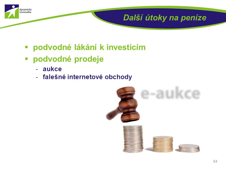 podvodné lákání k investicím podvodné prodeje