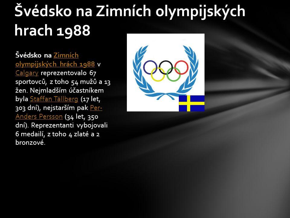 Švédsko na Zimních olympijských hrach 1988