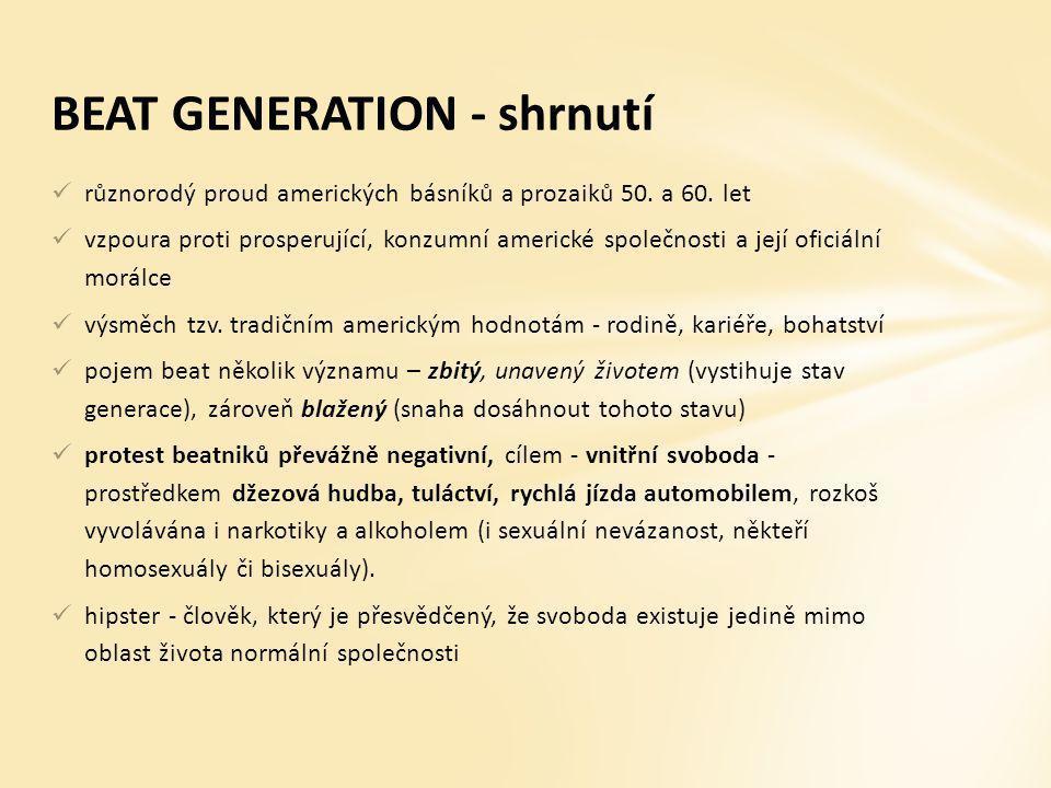 BEAT GENERATION - shrnutí