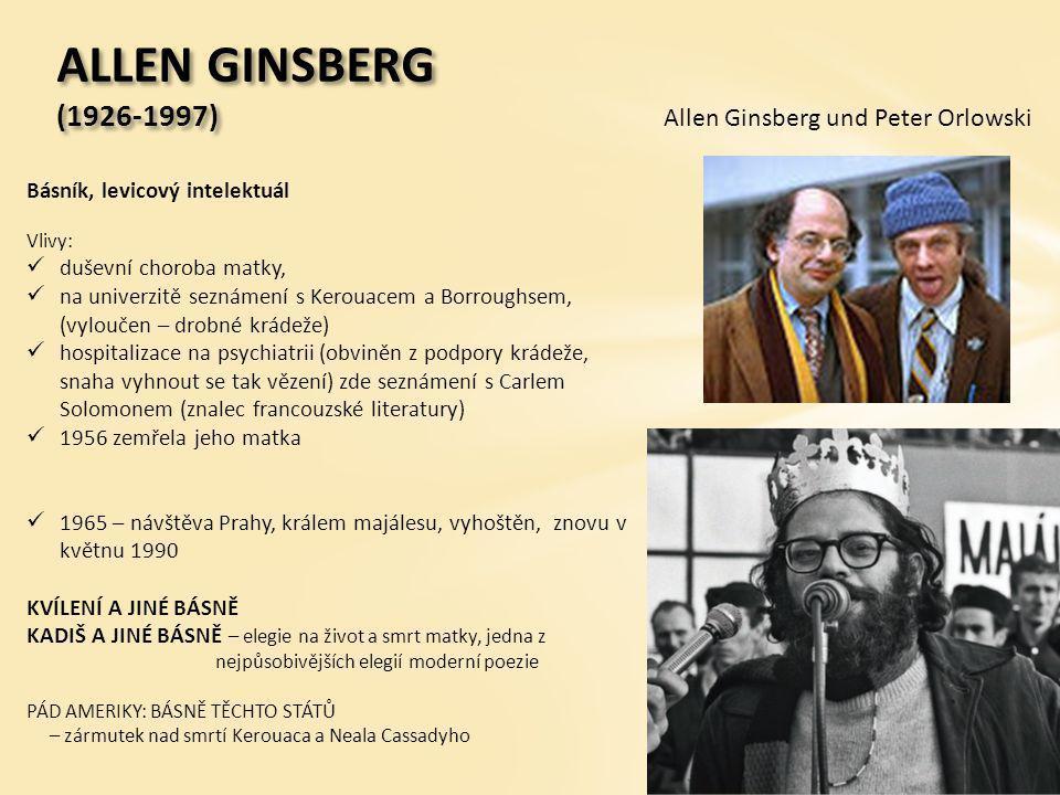 ALLEN GINSBERG (1926-1997) Allen Ginsberg und Peter Orlowski