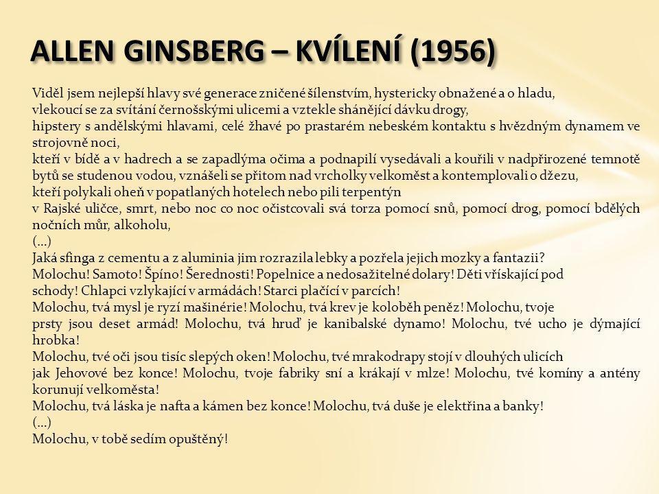 ALLEN GINSBERG – KVÍLENÍ (1956)