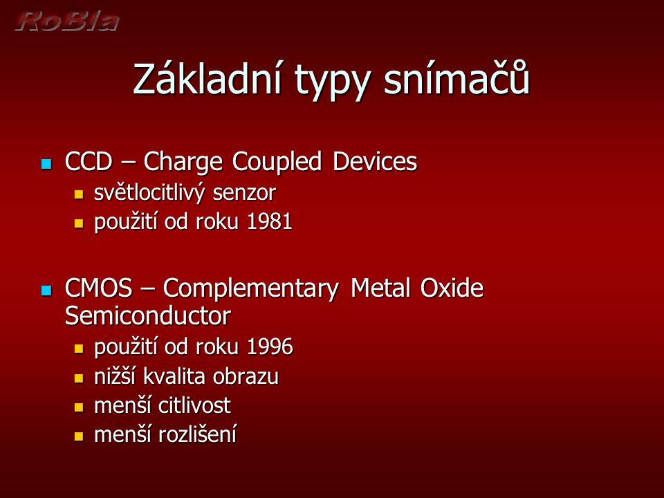 Základní typy snímačů CCD – Charge Coupled Devices
