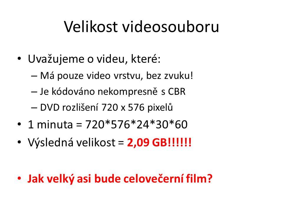 Velikost videosouboru