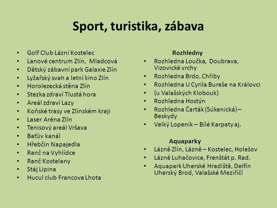 Sport, turistika, zábava