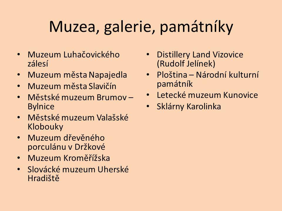 Muzea, galerie, památníky
