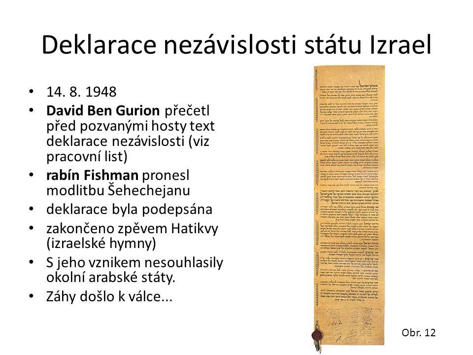 Deklarace nezávislosti státu Izrael