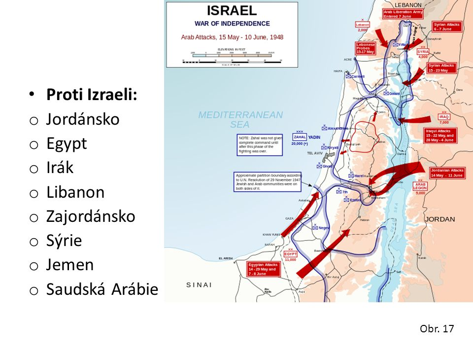 Proti Izraeli: Jordánsko Egypt Irák Libanon Zajordánsko Sýrie Jemen