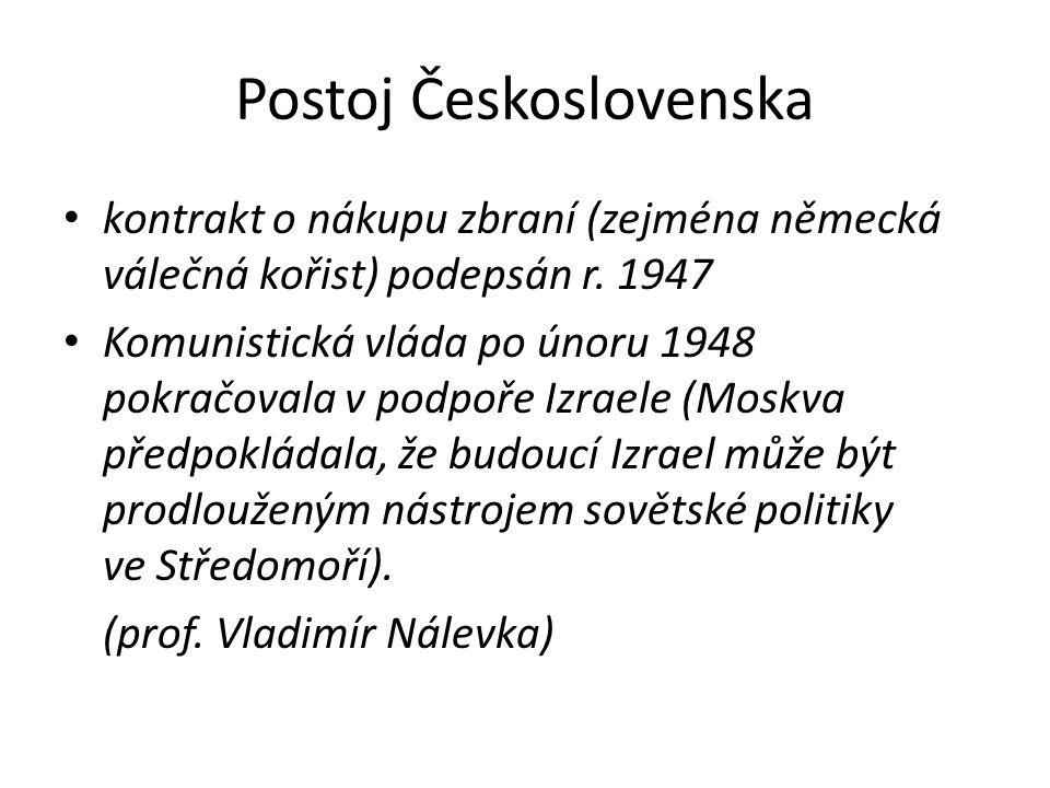Postoj Československa