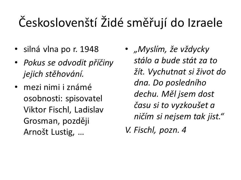 Českoslovenští Židé směřují do Izraele