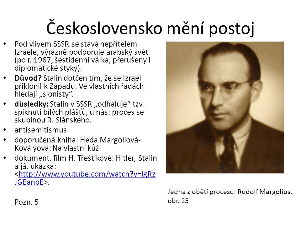 Československo mění postoj