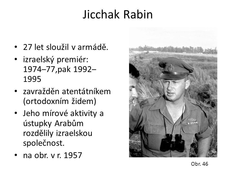 Jicchak Rabin 27 let sloužil v armádě.