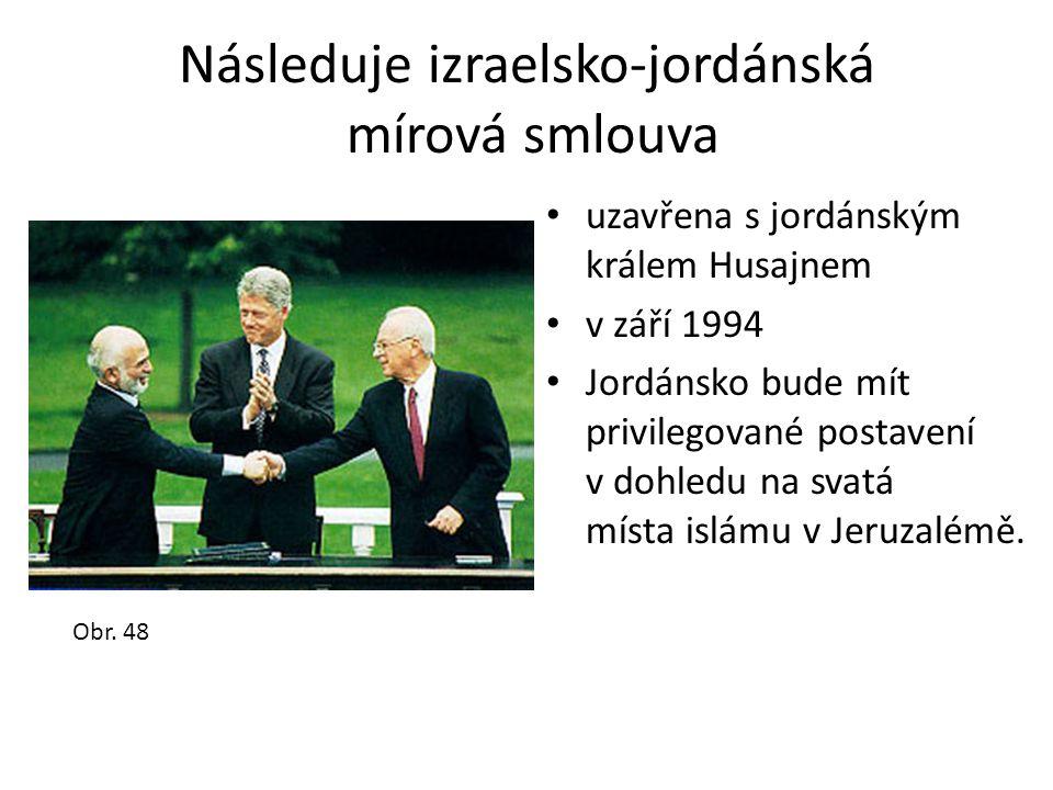 Následuje izraelsko-jordánská mírová smlouva