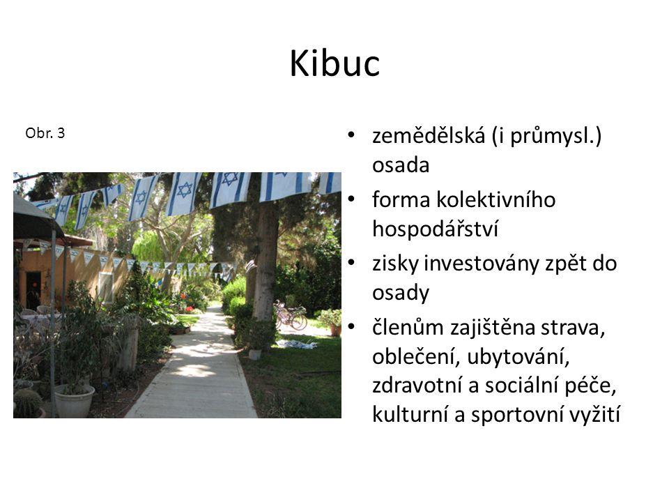 Kibuc zemědělská (i průmysl.) osada forma kolektivního hospodářství