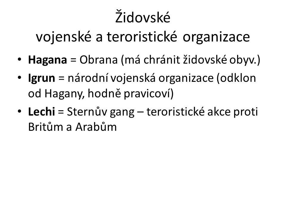 Židovské vojenské a teroristické organizace