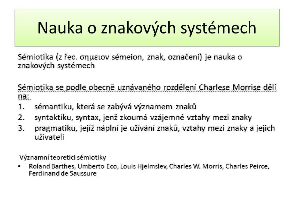 Nauka o znakových systémech