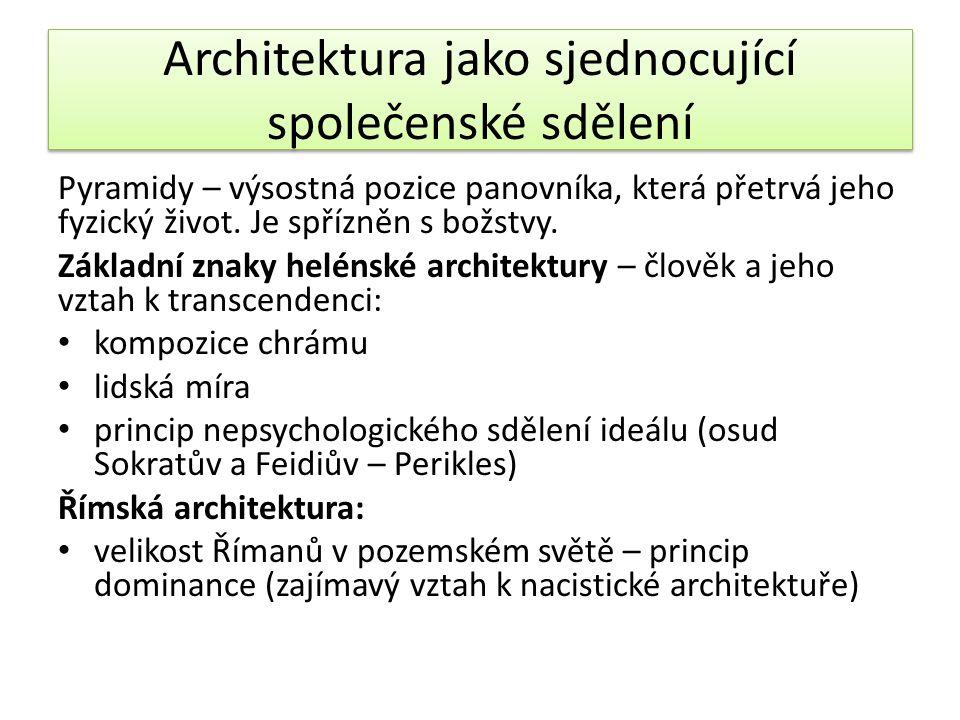 Architektura jako sjednocující společenské sdělení