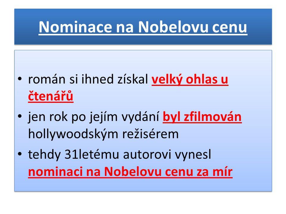 Nominace na Nobelovu cenu