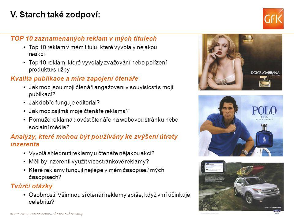 V. Starch také zodpoví: TOP 10 zaznamenaných reklam v mých titulech