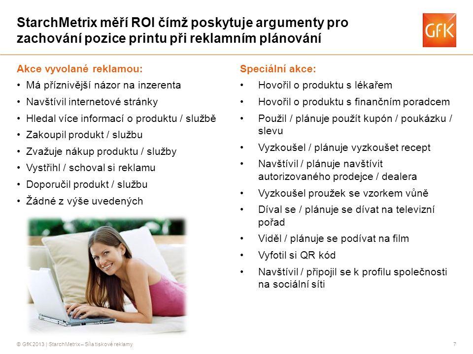 StarchMetrix měří ROI čímž poskytuje argumenty pro zachování pozice printu při reklamním plánování