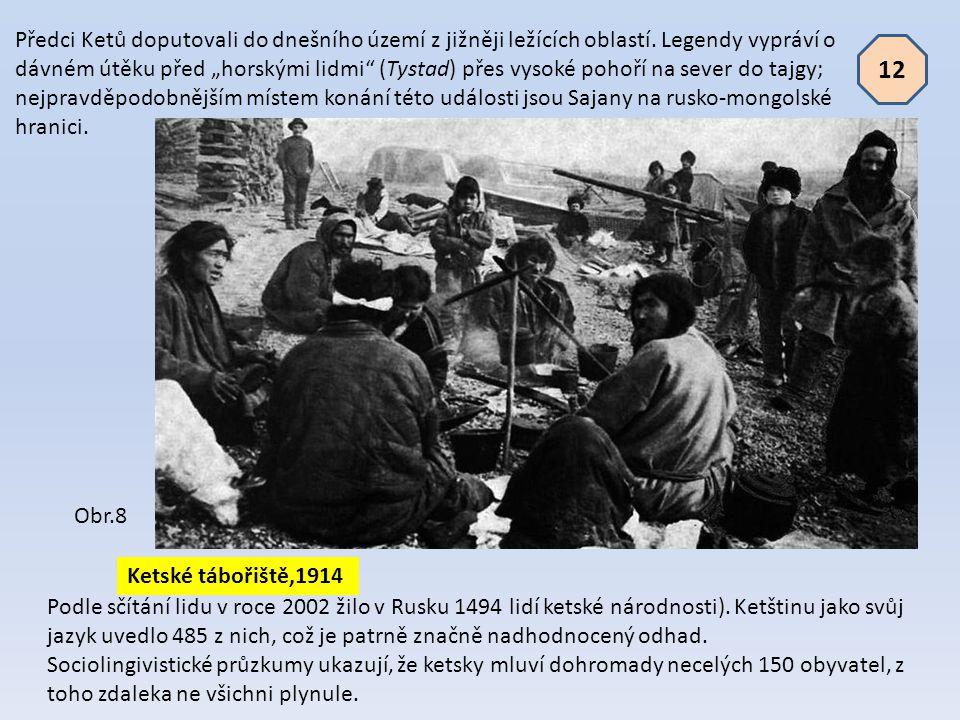 Předci Ketů doputovali do dnešního území z jižněji ležících oblastí