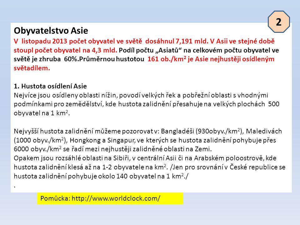 2 Obyvatelstvo Asie.