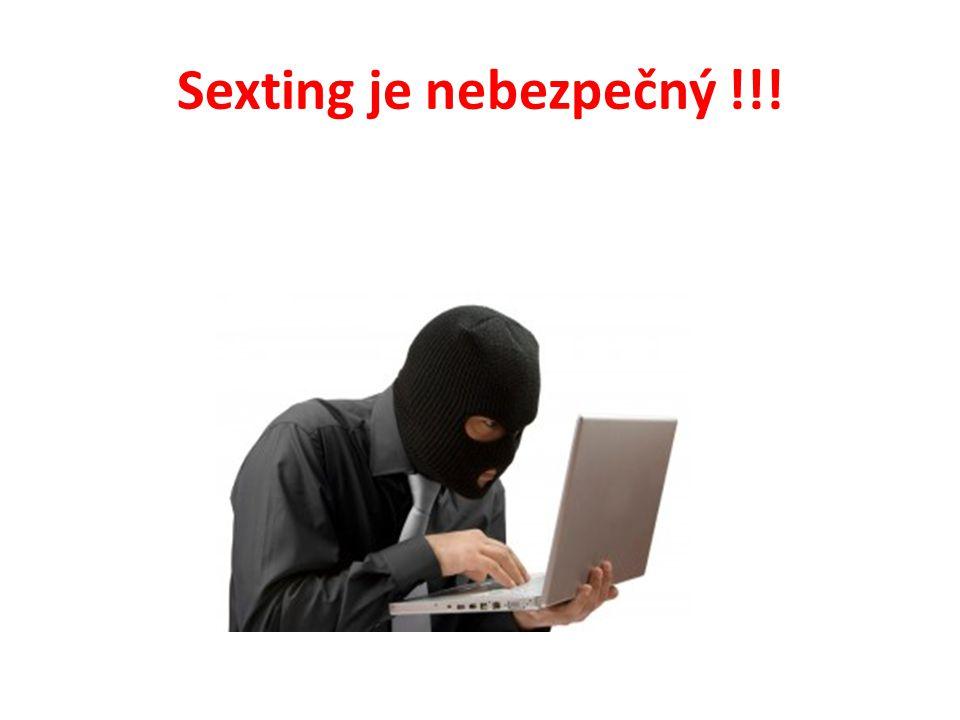 Sexting je nebezpečný !!!