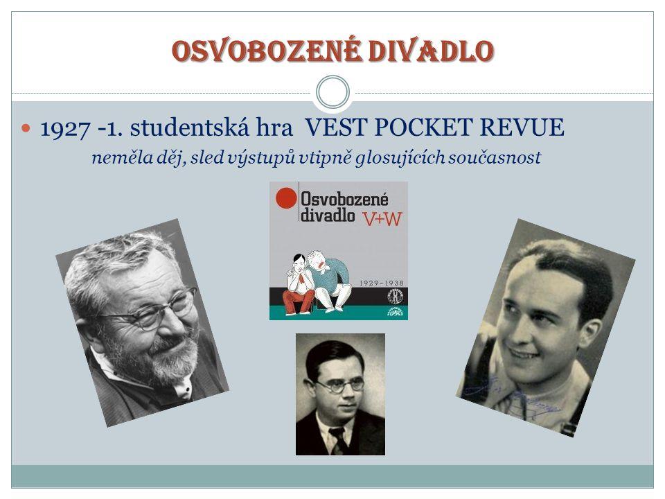OSVOBOZENÉ DIVADLO 1927 -1. studentská hra VEST POCKET REVUE