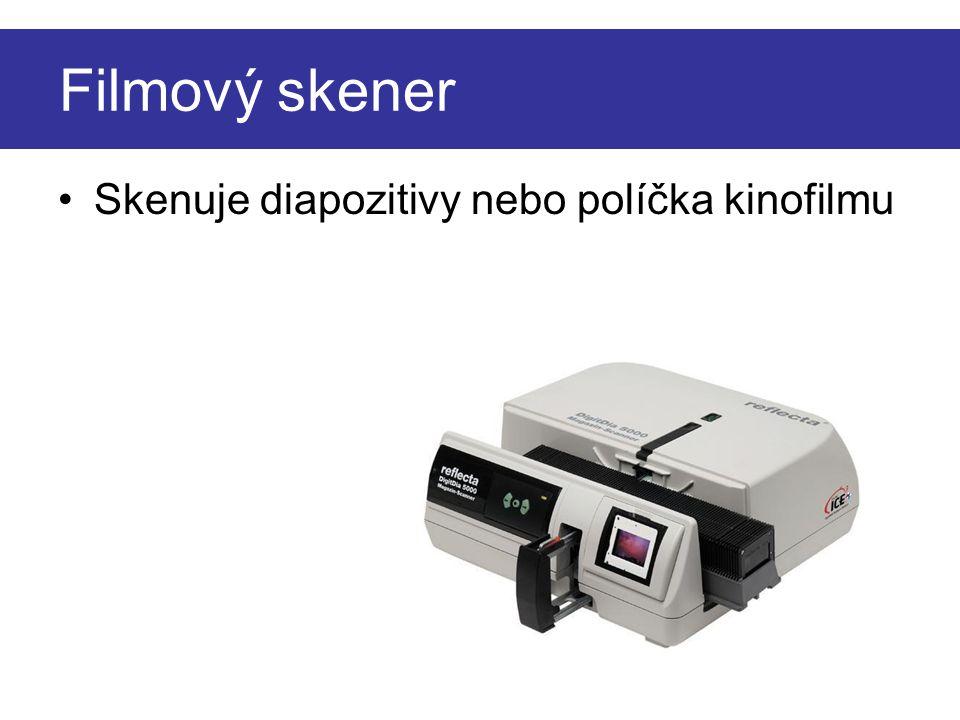 Filmový skener Skenuje diapozitivy nebo políčka kinofilmu