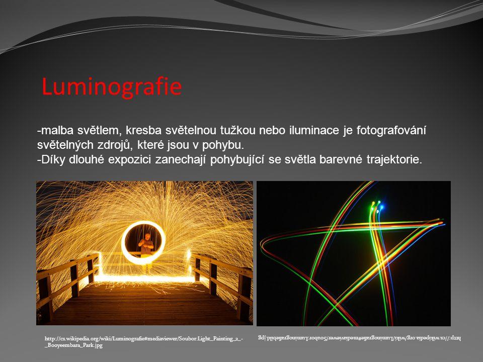 Luminografie malba světlem, kresba světelnou tužkou nebo iluminace je fotografování světelných zdrojů, které jsou v pohybu.