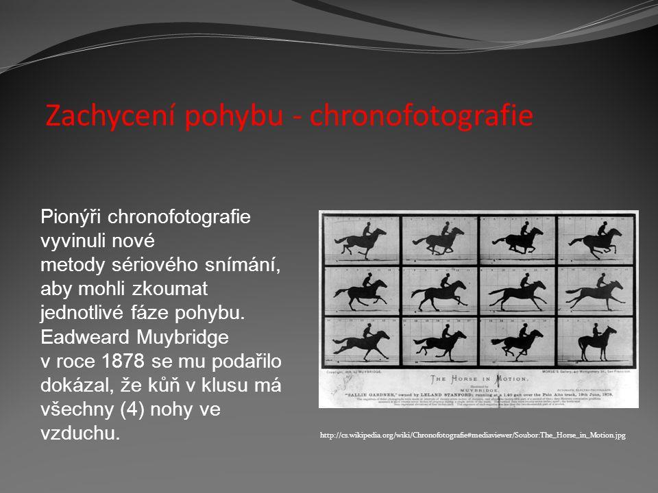 Zachycení pohybu - chronofotografie