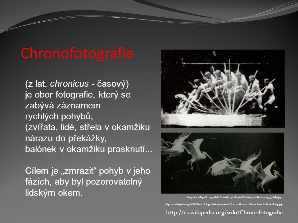 Chronofotografie (z lat. chronicus - časový)