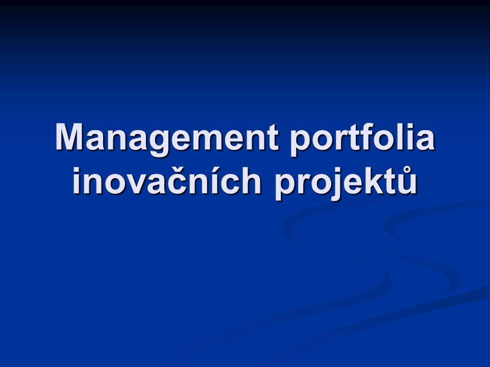 Management portfolia inovačních projektů
