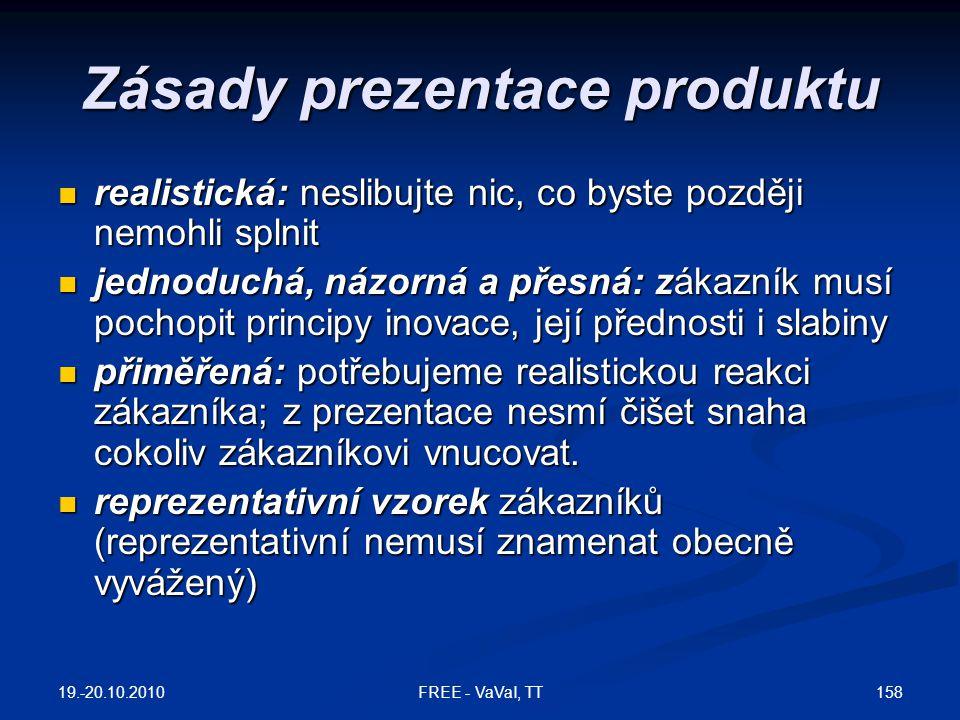 Zásady prezentace produktu