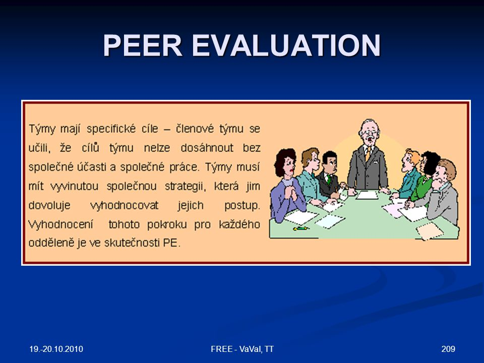 PEER EVALUATION FREE - VaVaI, TT