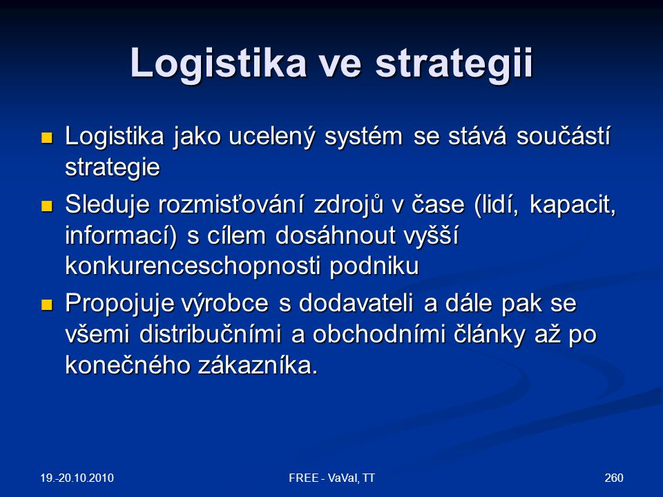 Logistika ve strategii