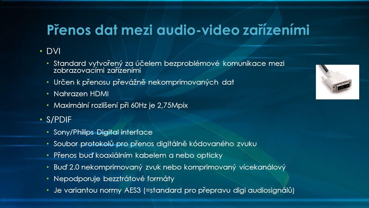 Přenos dat mezi audio-video zařízeními