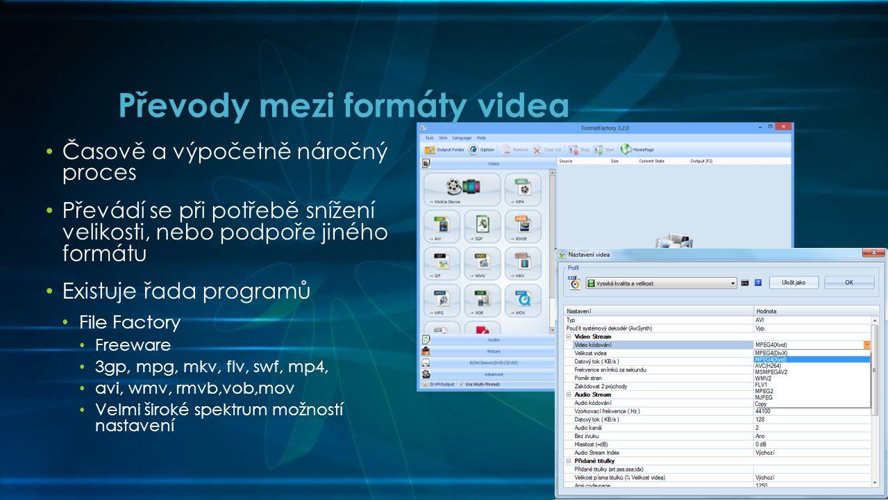 Převody mezi formáty videa