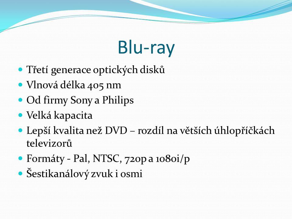 Blu-ray Třetí generace optických disků Vlnová délka 405 nm