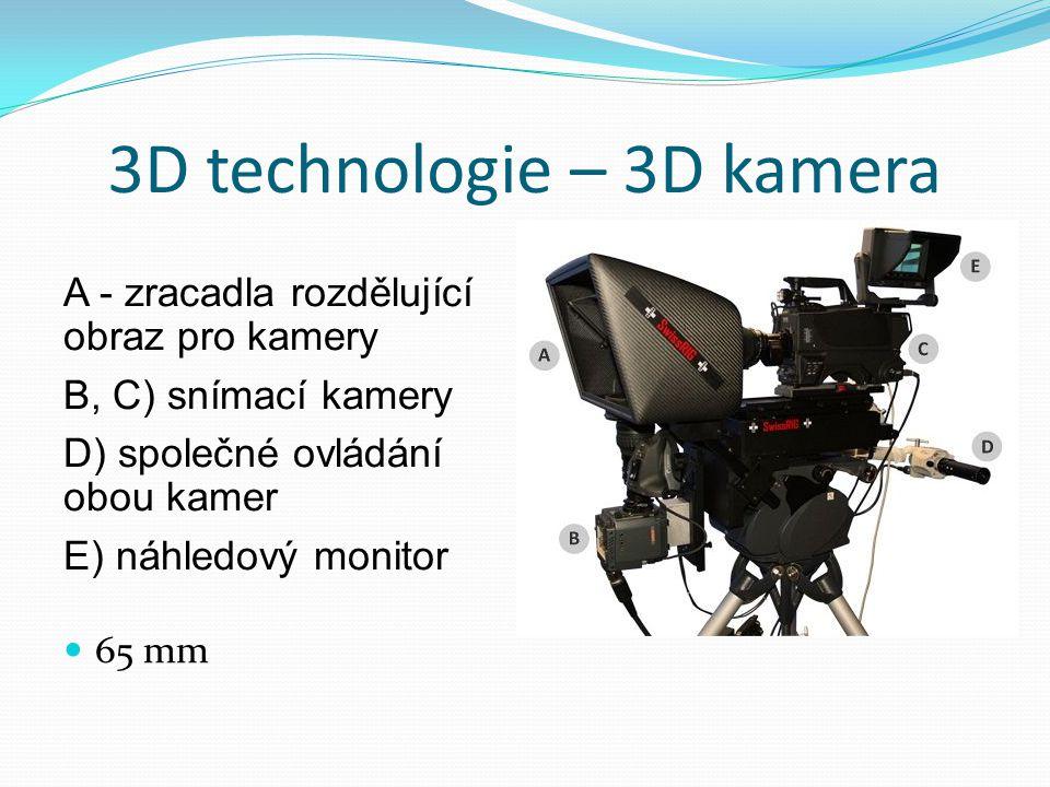 3D technologie – 3D kamera